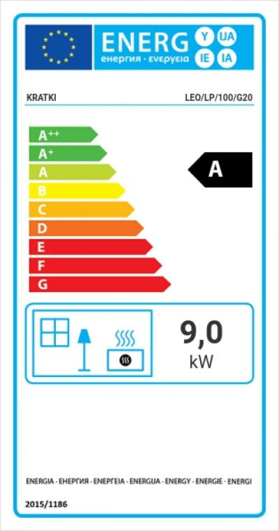 Kratki LEO 100 LP energetický štítok krbyonline