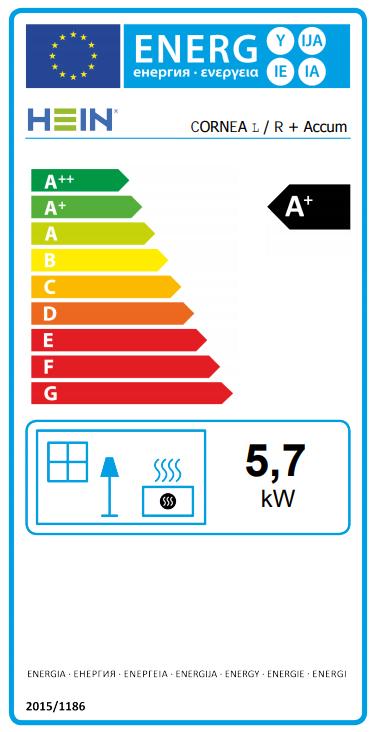 Hein Cornea L/R + Accum energetický štítok krbyonline