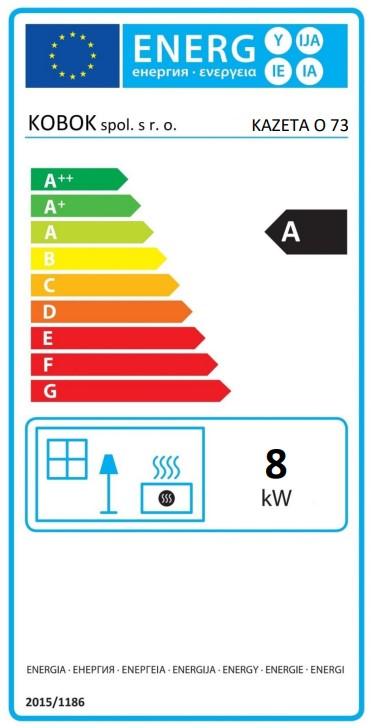 Kobok Kazeta O LD 73 energetický štítok krbyonline