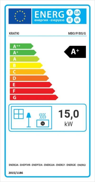 Kratki MBO 15 P BS G energetický štítok krb-pec