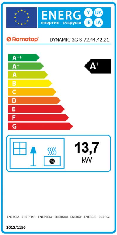 Romotop DYNAMIC R/L 3G S 72.44.42.21 energetický štítok krbyonline