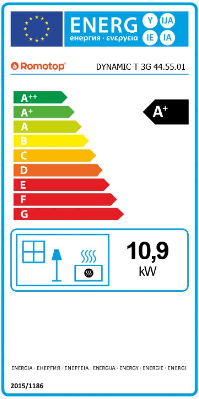 Romotop DYNAMIC T 3G 44.55.01 energetický štítok krbyonline