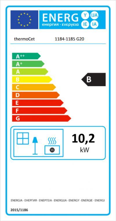 Trimline 83 Room Divider energetický štítok krbyonline