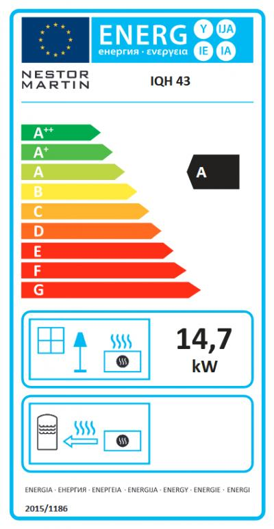 Nestor Martin IQH43 energetický štítok krbyonline
