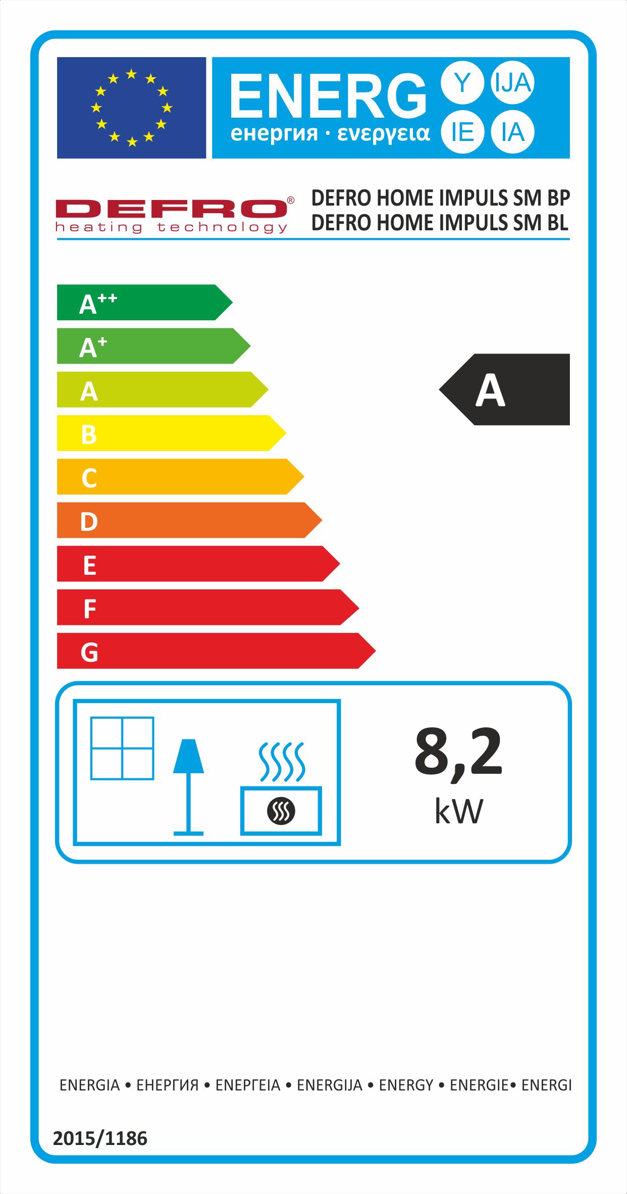 Defro Home Impuls SM BL energeticky stitok krbyonline