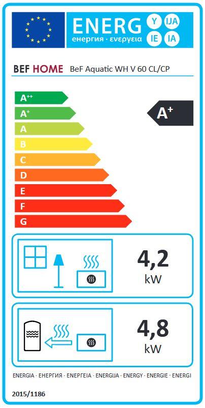 BeF Aquatic WH V 60 CL energetický štítok krbyonline