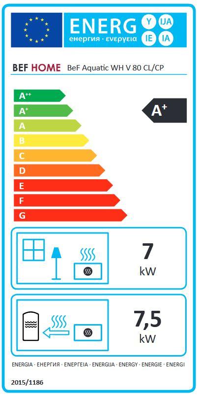 BeF Aquatic WH V 80 CL energetický štítok krbyonline