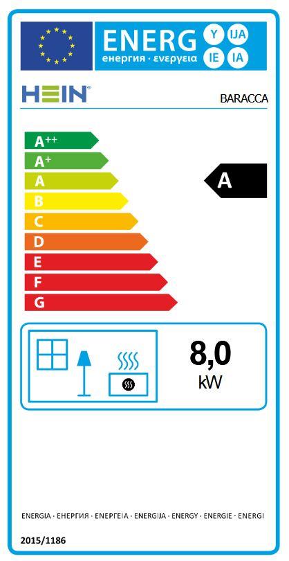 Hein Baracca 4 energetický štítok krbyonline
