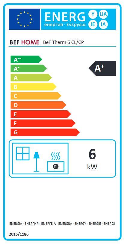 BeF Therm 6 CL energetický štítok krbyonline