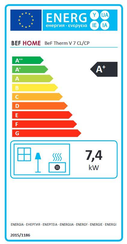 BeF Therm V 7 CL energetický štítok krbyonline