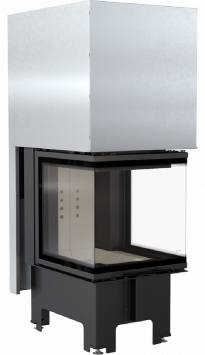 Kratki NBC 8 kW dizajnová oceľová krbová vložka s trojstranným presklením a výsuvnými dvierkami 8 kW