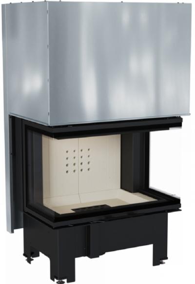 Kratki NBC 10 kW dizajnová oceľová krbová vložka s trojstranným presklením a výsuvnými dvierkami 10 kW