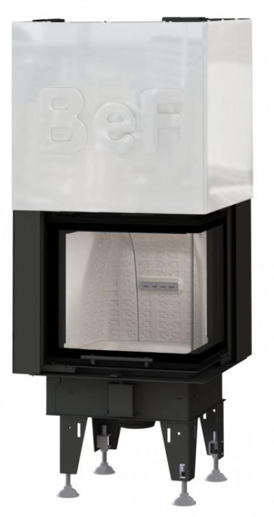 BeF Therm V 6 CP oceľová krbová vložka výsteľka corten pravé rohové presklenie výsuvné dvierka 6 kW