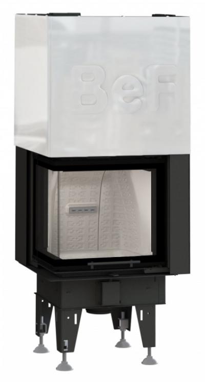 BeF Therm V 6 CL oceľová krbová vložka výsteľka corten ľavé rohové presklenie výsuvné dvierka 6 kW