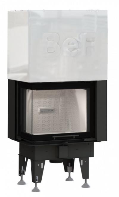 BeF Therm V 7 CL oceľová krbová vložka výsteľka corten ľavé rohové presklenie výsuvné dvierka 7 kW