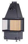 Kobok Chopok 2R 90 S/450 730/450 510 570 moderná kvalitná trojstranná krbová vložka s otváraním do boku krbyonline
