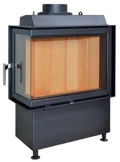 Kobok Kazeta R90-S/450 670/440 500 560 sarki, légfűtéses, acél kandalló samott tűztérrel