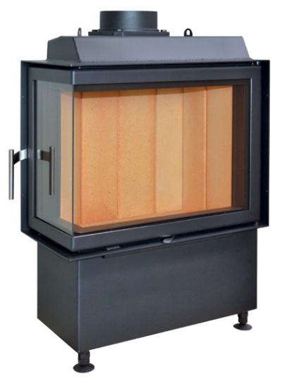 Kobok Kazeta R90-S/450 600/440 500 560 sarki, légfűtéses, acél kandalló samott tűztérrel