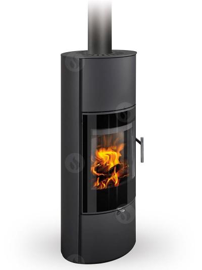 Romotop LAREDO 03 AKUM modern hőtárolós lemez kandallókályha samott tűztérrel