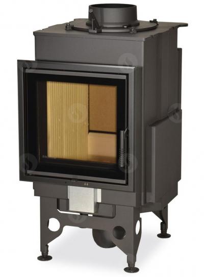 Romotop KV 025 N01 BD kandallóbetét hőtárolós építményhez dupla üveggel és hátsó ajtóval