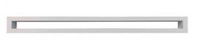 Krbová mriežka TUNEL 6x100 cm biela