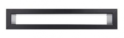 Krbová mriežka TUNEL 6x40 cm čierna