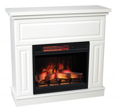 Classic Flame Kemi fehér modern elektromos látványkandalló fűtéssel