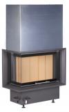 Kobok Chopok R 90 S/330 L/P 670/450 510 570 modern, minőségi, masszív sarki kandallóbetét liftes tolóajtóval kandalloshop