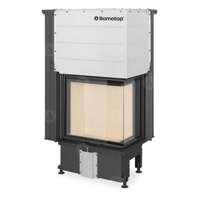 Romotop Impression R/L 2g L 58.60.34.21 masszív acél sarki kandallóbetét liftes tolóajtóval