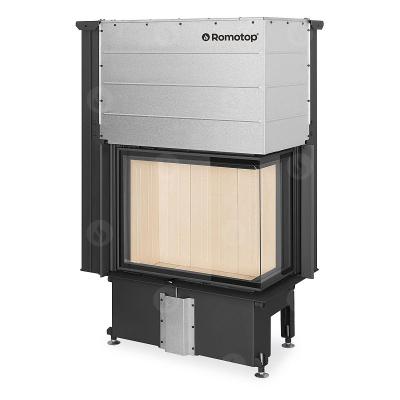 Romotop Impression R/L 2g L 71.60.34.21 masszív acél sarki kandallóbetét liftes tolóajtóval