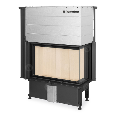Romotop Impression R/L 2g L 83.60.34.21 masszív acél sarki kandallóbetét liftes tolóajtóval