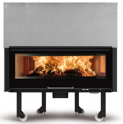 La Nordica Monoblocco 1300 Crystal légfűtéses kandallóbetét öntvény tűztérrel és liftes tolóajtóval