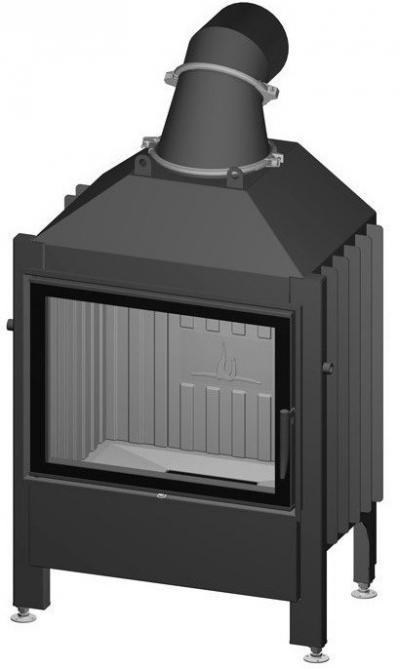 Spartherm Varia 1V 57 sík üvegű acél kandallóbetét
