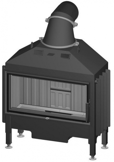 Spartherm Varia AS 4S rovná oceľová krbová vložka
