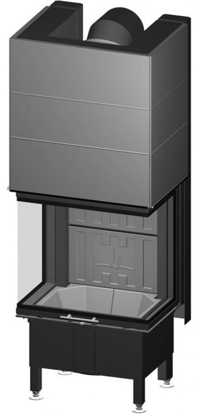 Spartherm Arte 3RL 60h exkluzívna trojstranná oceľová krbová vložka s výsuvnými dvierkami