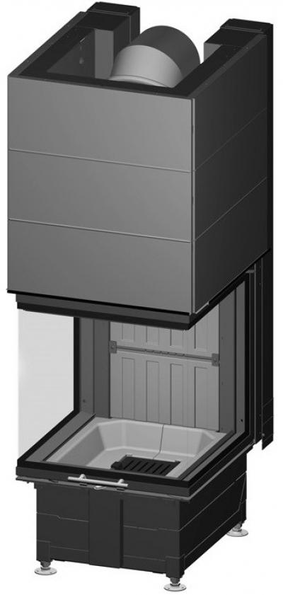 Spartherm Arte U 50h három oldali acél kandallóbetét liftes tolóajtóval