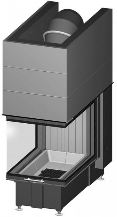 Spartherm Arte U 70h három oldali acél kandallóbetét liftes tolóajtóval