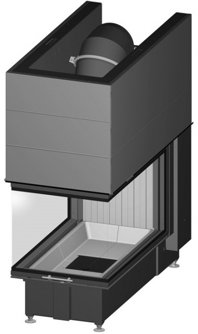 Spartherm Arte U 90h exkluzívna trojstranná oceľová krbová vložka s výsuvnými dvierkami