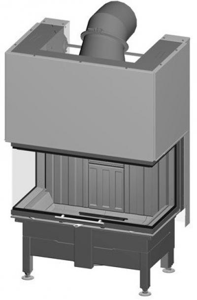 Spartherm Varia AS 3RLh három oldali acél kandallóbetét liftes tolóajtóval