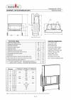 Kobok Chopok 970/450 510 570 sík üvegű kandallóbetét liftes tolóajtóval kandalloshop