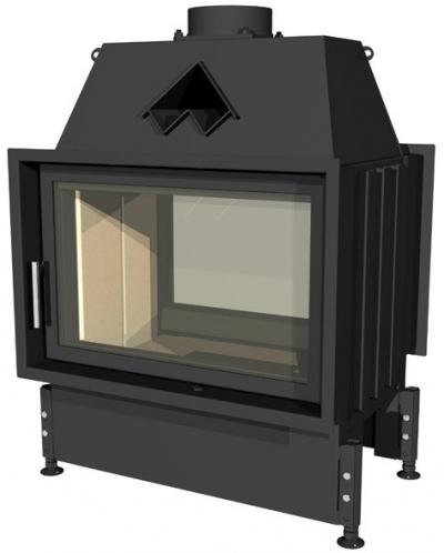 Kobok Chopok O 670/450 510 570 zárt égésterű, két oldali, légfűtéses, acél kandallóbetét samott tűztérrel