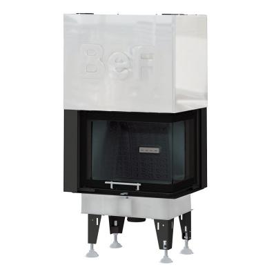 BeF Royal V 8 CP hajlított üvegű légfűtéses kandallóbetét jobbos liftes tolóajtóval