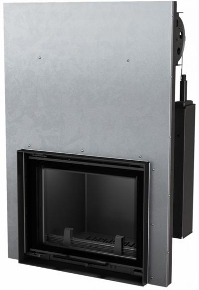 Kratki Antek 8 G DECO W teplovodná krbová vložka s výsuvným otváraním dvierok a dekoratívnym sklom