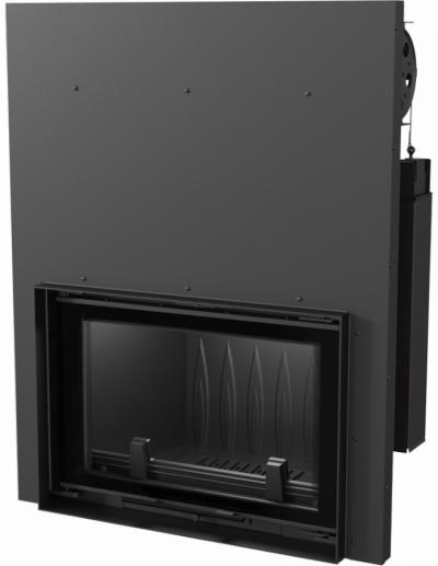 Kratki Wiktor G DECO teplovzdušná krbová vložka s výsuvným otváraním dvierok a dekoratívnym sklom