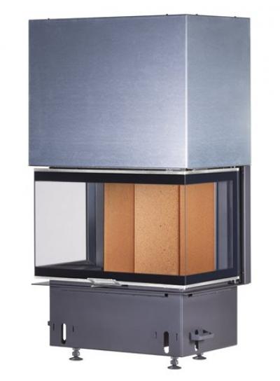 Kobok Chopok 2R90 S/380 VD 755/450 510 570 teplovzdušná trojstranná krbová vložka s výsuvnými dvierkami