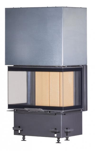 Kobok Chopok 2R90 S/380 VD 805/450 510 570 háromoldalas légfűtéses kandallóbetét liftes tolóajtóval