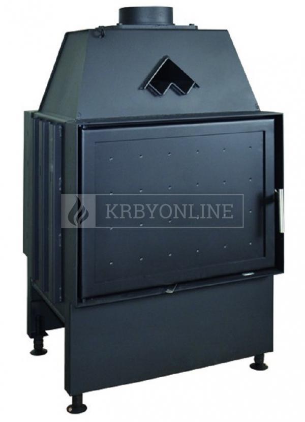 Kobok Chopok O 600/450 510 560 obojstranná teplovzdušná oceľová krbová vložka s otváraním do boku krbyonline