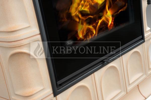 Hein BARACCA 3N klasické keramické krbové kachle s veľkým ohniskom krbyonline