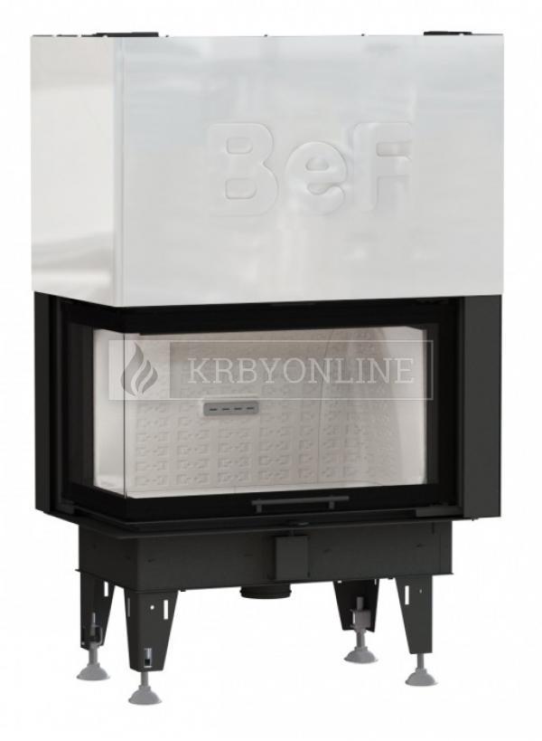 BeF Therm V 10 CL rohová krbová vložka s výsuvnými dvierkami krbyonline