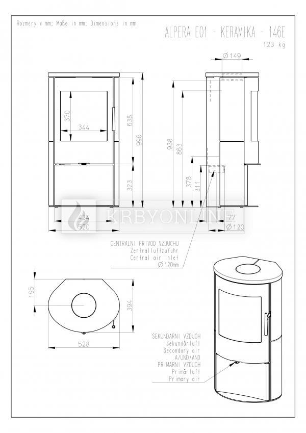 Romotop ALPERA E01 designové, kvalitné, oceľové kachle s keramikou krbyonline